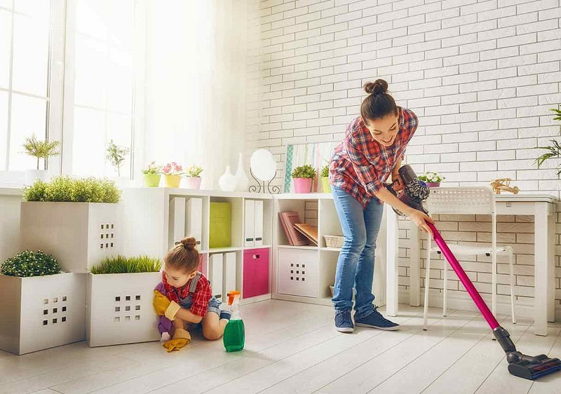 How to do cleaning at home with children